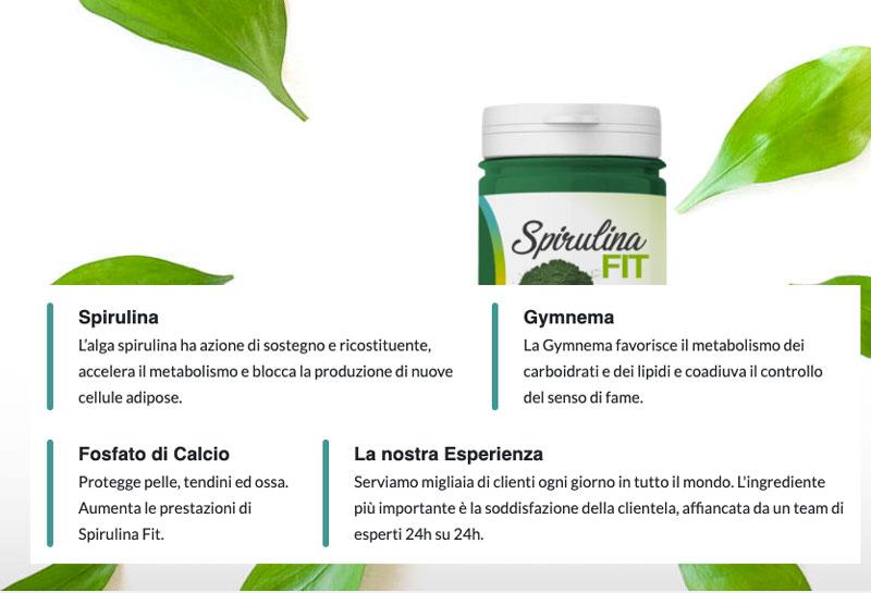 Ingredienti di Spirulina Fit