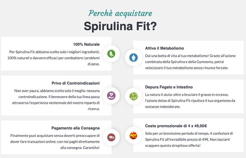 caratteristiche di Spirulina Fit