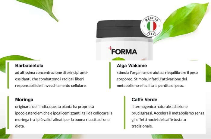 ingredienti di +Forma